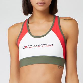 Tommy Sport Women's Blocked Mid Support Bra