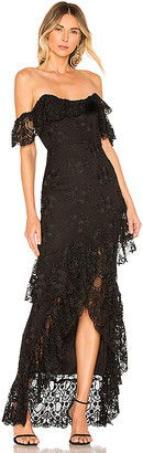 Lovers + Friends Rosewater Lace Gown