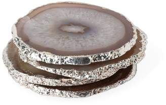 Jonathan Adler Natural and Silver Agate Coasters