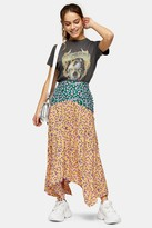 Topshop PETITE Multi Mixed Floral Print Skirt