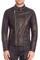Diesel Black Gold Lestan Moto Biker Leather Jacket
