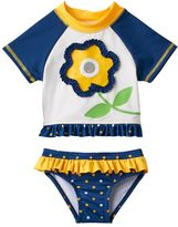 Baby Girl Wippette Flower Rashguard & Bottoms Swimsuit Set