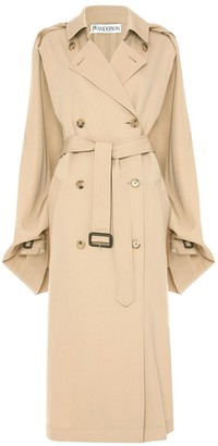 J.W.Anderson Open-Sleeve Cape Trench Coat