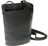 Royce Leather Women's Vaquetta Petite L-Zip Crossbody Bag