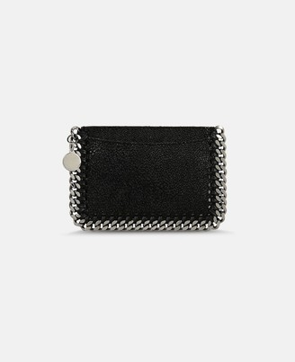 Stella McCartney black falabella shaggy deer card holder