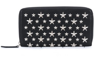 Jimmy Choo Star-Studded Leather Wallet