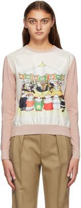 Lanvin Pink Barbar Edition Print Sweater