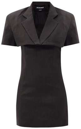 Jacquemus Gardian Cropped-blazer Mini Dress - Black