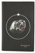 Givenchy Men's Monkey Print Coated Canvas Card Case - Black
