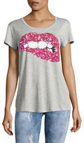 Design Lab Lord & Taylor Sequin Lips T-Shirt