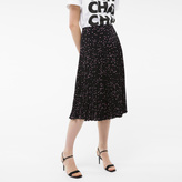 Paul Smith Women's Black Pleated Skirt With 'Shadow Spot' Print