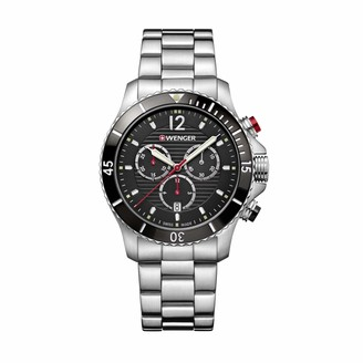 Wenger Men's Seaforce Chronograph - Swiss Made Analogue Quartz Stainless Steel Watch 01.0643.109