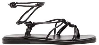 Hereu Fermada Knotted Leather Sandals - Womens - Black