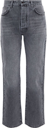 Victoria Victoria Beckham Embroidered High-rise Straight-leg Jeans