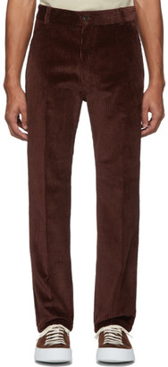 Ami Alexandre Mattiussi Brown Straight Fit Trousers