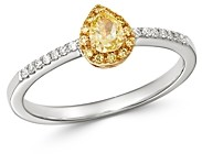Bloomingdale's Yellow & White Diamond Ring in 14K Yellow & White Gold - 100% Exclusive