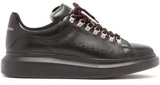 Alexander McQueen Raised Sole Hiking Low-top Leather Trainers - Mens - Black