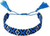 Whistles Wide Beaded Tassel Bracelet
