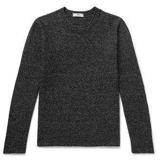 Inis Meáin Melange Linen And Cotton-Blend Sweater