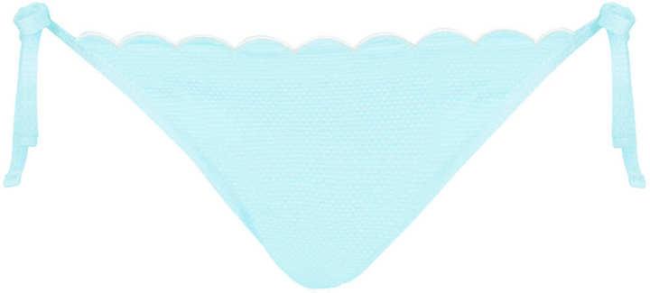 Topshop Pale Blue Scallop Tie Side Pants