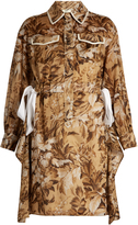 Fendi Floral-print cotton-voile dress