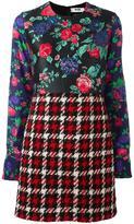 MSGM multi-pattern dress - women - Wool/Polyamide/Polyester - 42