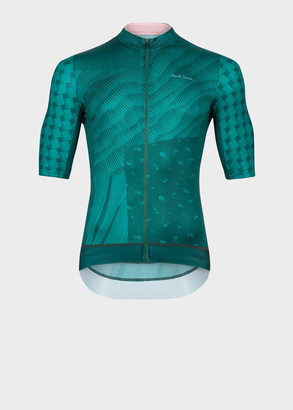 Paul Smith Green Archive Print Cycling Jersey