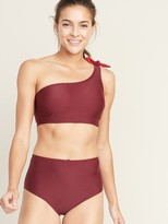 Old Navy Knotted One-Shoulder Swim Top for Women