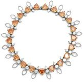 Noir Cubic Zirconia & Crystal Studded Necklace- 16in