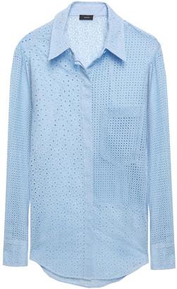 Joseph Gibson Broderie Anglaise Cotton-blend Shirt