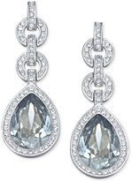 Swarovski Rhodium-Tone Adore Drop Earrings