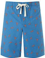 John Lewis Macaque Print Lounge Shorts, Blue