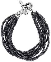 King Baby Studio Women's 925 Sterling Silver Eight Strands Spinel Beads Bracelet With Mini Toggle Clasp