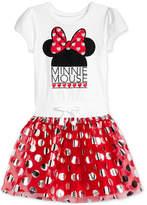 Disney Disney's Layered-Look Minnie Mouse Dress, Little Girls