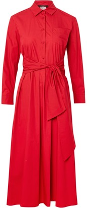 Max Mara Weekend Jums Midi Shirt Dress, Cherry