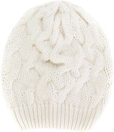 Cruciani chunky cable knit beanie - women - Cashmere - One Size