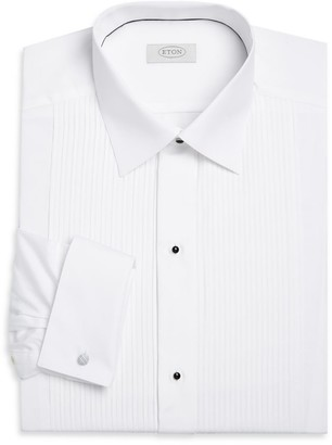 Eton Contemporary-Fit Pleated-Bib Formal Shirt