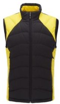 HUGO BOSS - Link Quilted Gilet With Reflective Details - Yellow