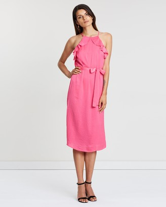 Atmos & Here Lulu Ruffle Tie Dress