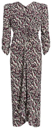 Isabel Marant Albi Printed Stretch-Silk Midi Dress