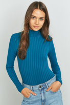 Urban Outfitters Wide Ribbed Turtleneck Bodysuit
