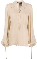 Gianfranco Ferre Pre Owned 1990s puffy sheer sleeves blouse