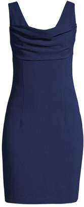 Trina Turk Sultry Cowlneck Mini Dres