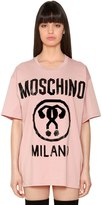 Moschino Oversized Cotton Jersey T-Shirt