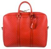 Gucci Diamante Leather Briefcase