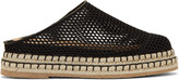 Flamingos Black Mesh Gumbo Slip-on Espadrilles