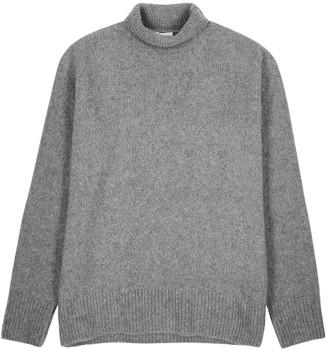 Kenzo Grey roll-neck wool-blend jumper
