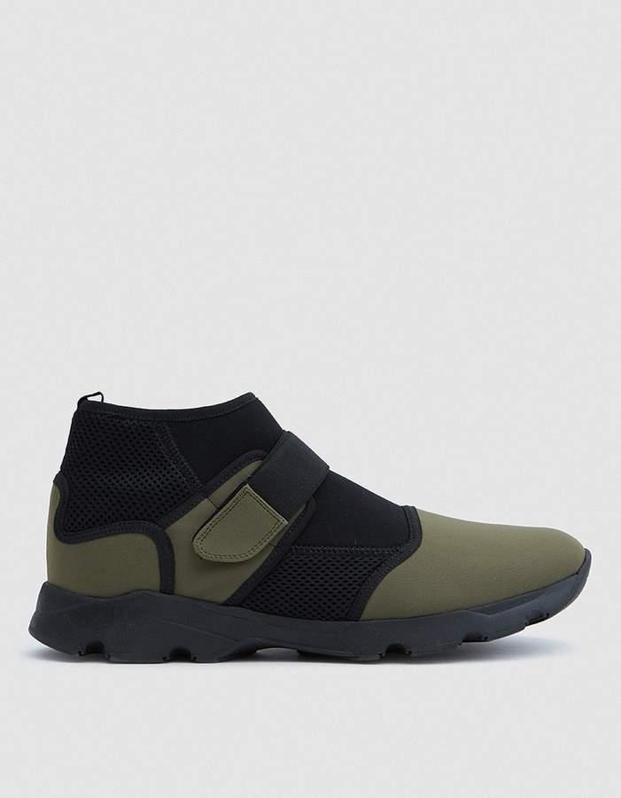 Marni Neoprene Sneaker Shoe in Military/Black