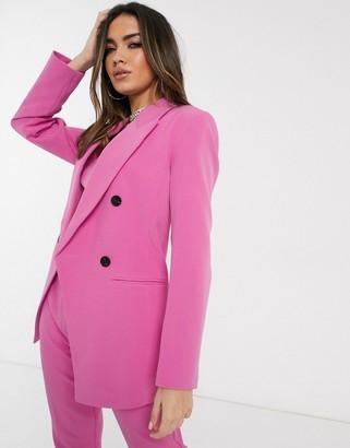 Asos DESIGN pop waisted suit blazer in pink