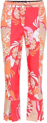 Emilio Pucci Cropped stretch-cotton pants